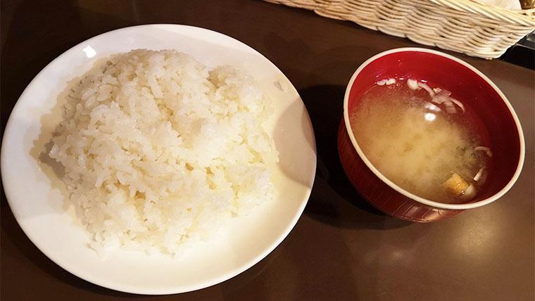 ライス味噌汁